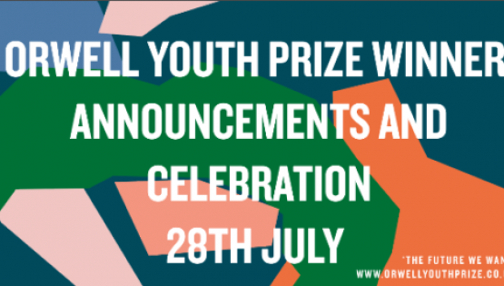 Orwell Youth Prize winners revelead: 1200 young people write on the future they want (and reveal the future they fear)