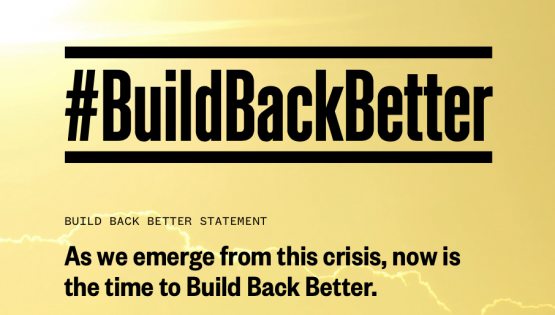 #BuildBackBetter coalition launched