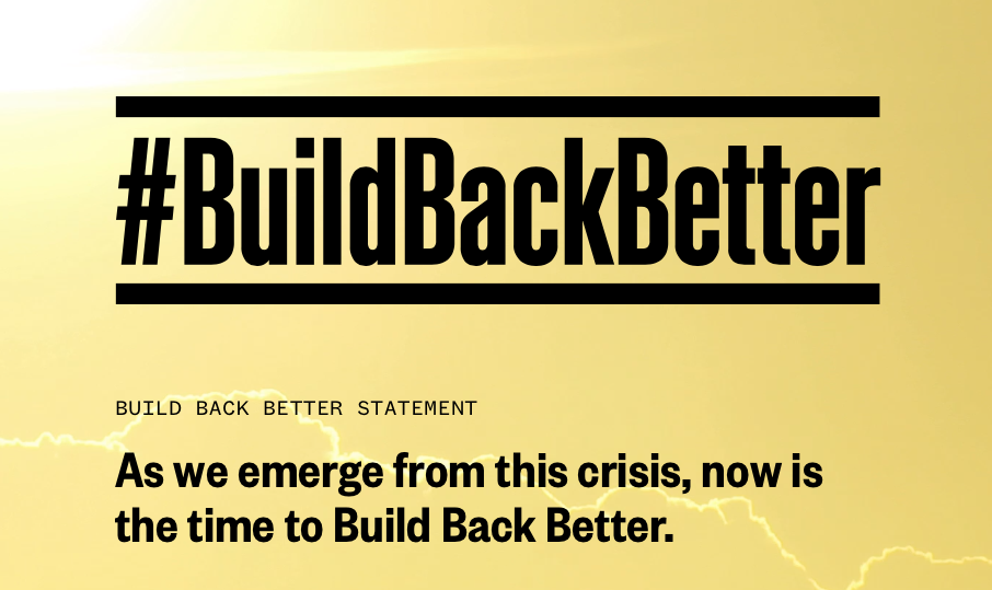 #Buildbackbetter coalition logo