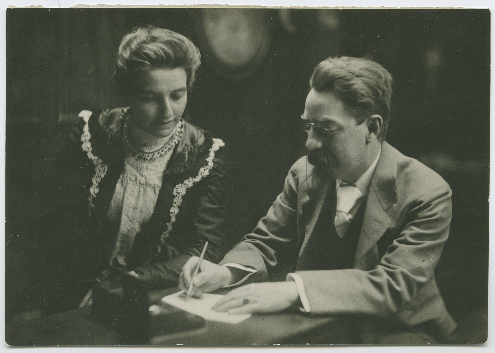 Beatrice and Sidney Webb working together in 1895